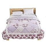 [Unigarden] ベッドカバー ベッドスプレッド マルチ カバー キルト おしゃれ ダブル 綿100% 12色 (150X200, F)