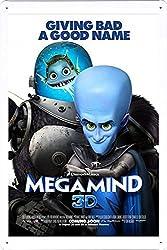 映画の金属看板 ティンサイン ポスター / Tin Sign Metal Poster of Movie Megamind #11