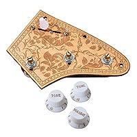 Sharplace 全3カラー ギター配線ハーネス ピックアップ 1V2T 5ウェイ トグルスイッチ - 白