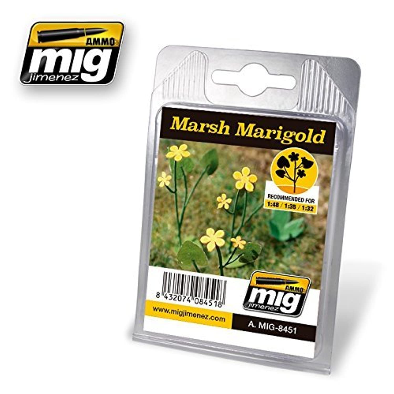 AmmoのMig Jimenez 1 : 32 – 35 – 48リアルなLeaves Marsh Marigold # 8451
