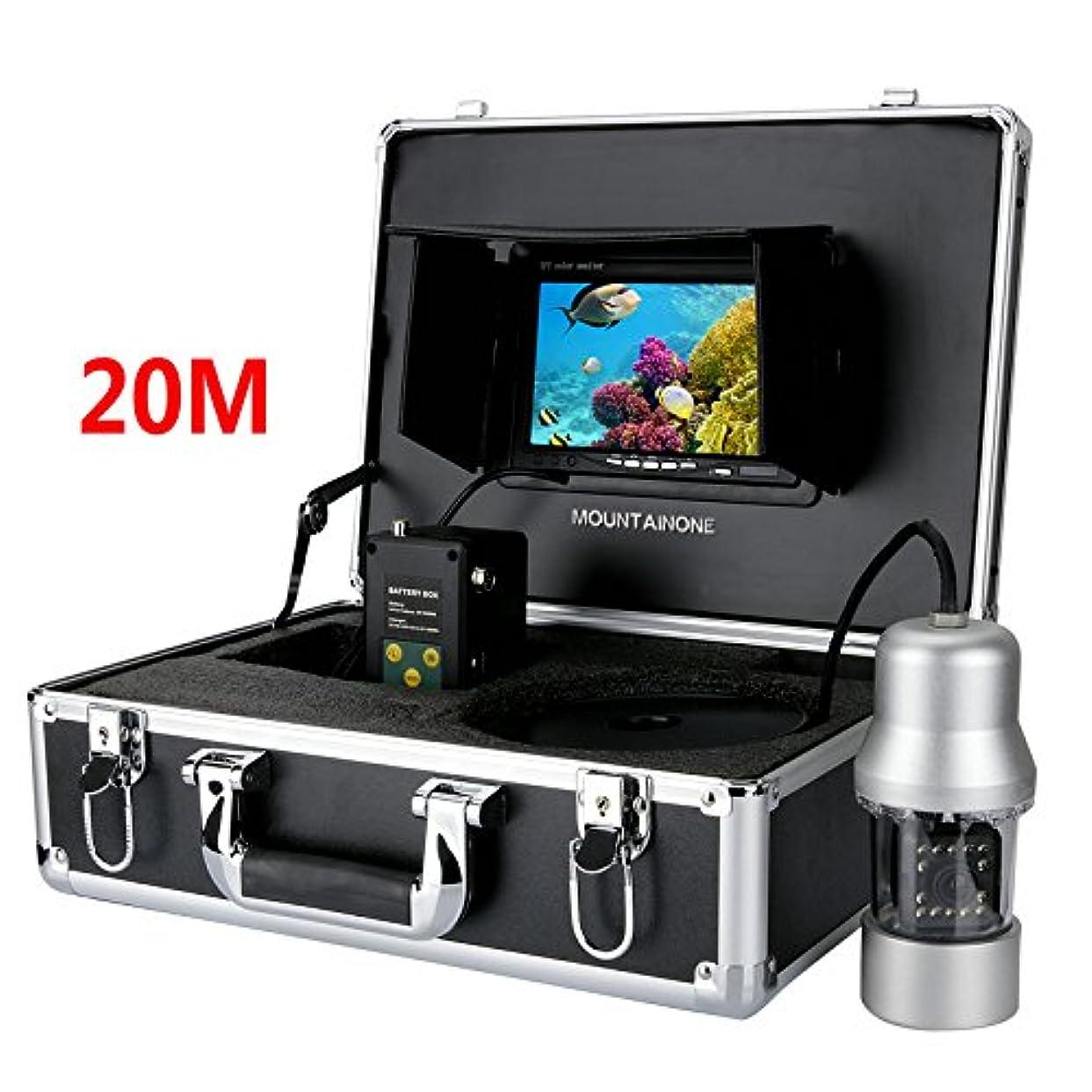 疑問に思うイタリアの変更1/3インチCCD水中釣りカメラ - 360度ビュー、リモコン、7インチLCDモニター14倍ホワイトライト