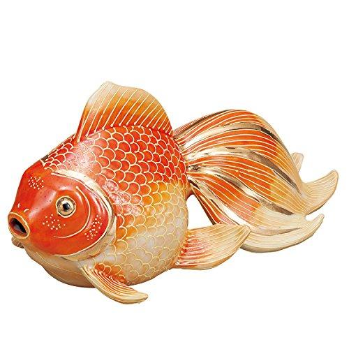 九谷焼 7号金魚 紅盛