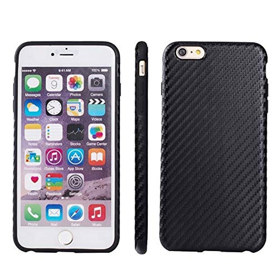 代数的関係ない疑い者YMF iPhone 6 Plus &6S Plus 用カーボンファイバーテクスチャーTPUケース (Color : Black)