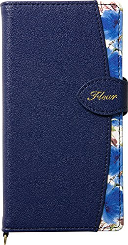 Natural Design FLEUR手帳型 4.7インチ対応 【iPhone 8/7】ネイビー (カードポケット&ハンドストラップ付)の詳細を見る