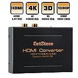 HDMI音声分離器 HDMI to HDMI+Audio(SPDIF+L/R) デジタルオーディオ切替器 高音質 PASS/5.1CH/2.0CH 音声分離器 ステレオオーディオ 4K*2K/3D/1080P*60Hz/1.4vに対応