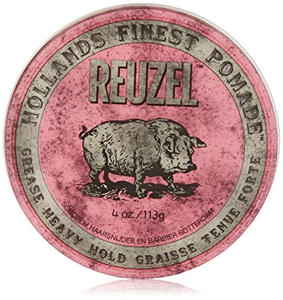 トンネルデマンド過激派Reuzel Pink Grease Heavy Hold Pomade 4 oz/113g