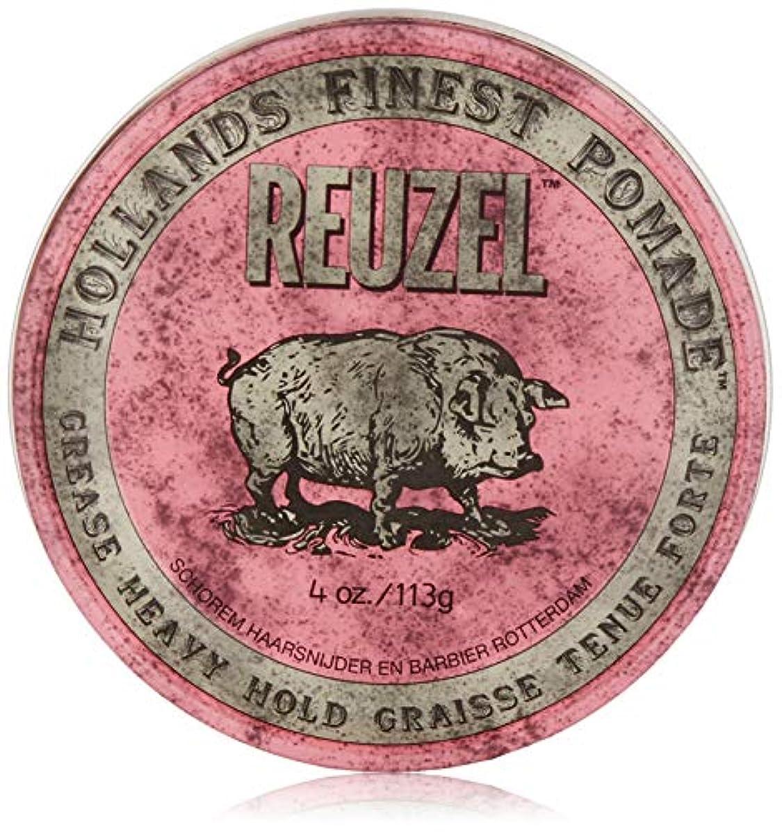 死ぬラウンジ獣Reuzel Pink Grease Heavy Hold Pomade 4 oz/113g