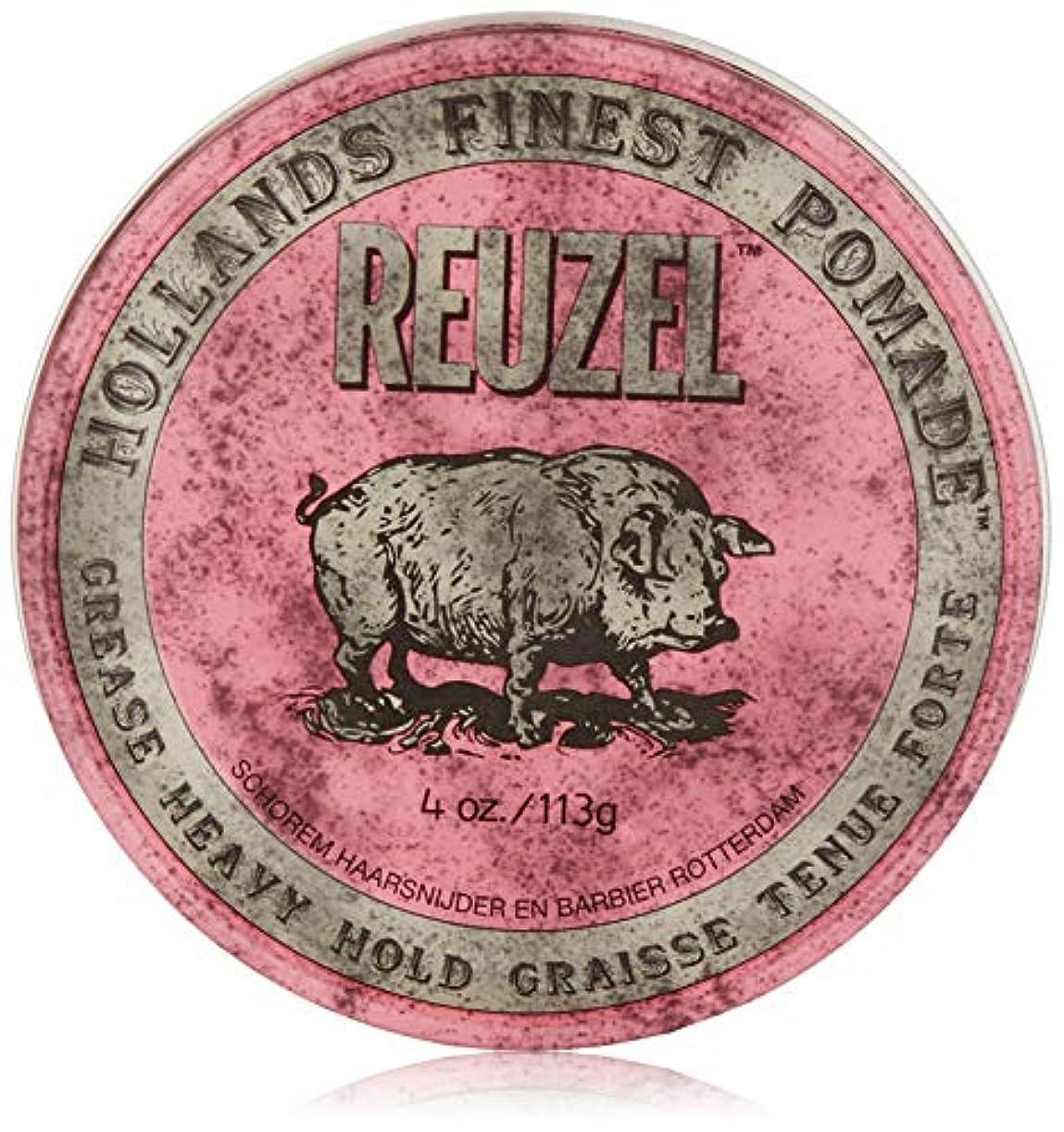 机不利益マイルストーンReuzel Pink Grease Heavy Hold Pomade 4 oz/113g
