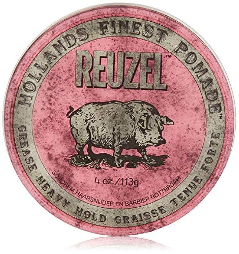 鳩真っ逆さまレオナルドダReuzel Pink Grease Heavy Hold Pomade 4 oz/113g