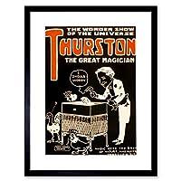 Theatre Thurston Great Magician Vintage Advertising Birds Framed Wall Art Print