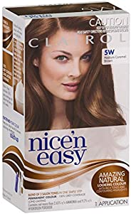 Clairol Nice'n Easy Permanant Hair Colour, 5w Medium Caramel Brown, 1 c