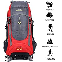 70 L Huge Waterproof Ultra Lightweight Packable Climbing Fishing International Backpack Hiking Daypack,Internal Compartment Backpack,Trekking Camping Outdoor Backpack Bag with a Rain Cover