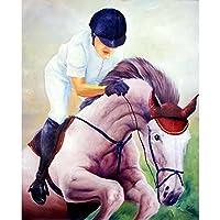 ArtzFolio Jockey Artwork Unframed Premium Canvas Painting 24.2 x 30inch