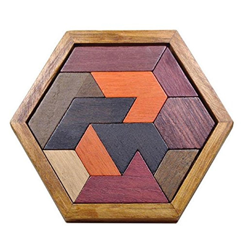Domybest木製タングラムパズルおもちゃジグソーパズル幾何学的形状脳の体操子供のための教育玩具子供の贈り物(A)