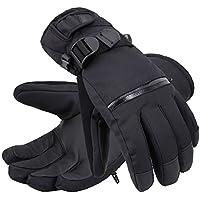 (アンドラ)Andorra メンズ 折り目加工 タッチスクリーン スキー手袋 W /ファスナー付き