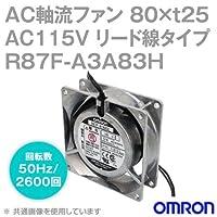 オムロン(OMRON) R87F-A3A83H AC軸流ファン 115V (80×t25 リード線タイプ) (回転数 50Hz 2600回) NN