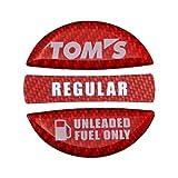 TOM'S(トムス) フューエルキャップガーニッシュ レッド・レギュラー 77315-TS001-R2 77315-TS001-R2