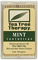 Tea Tree Therapy Tea Tree Toothpicks 100 Toothpicks by Tea Tree Therapy