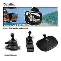 FidgetGear 調節可能なリアビューミラーパノラマ凸インテリアクリップ&サクションカップ新しい