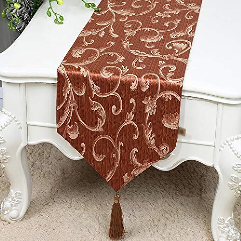 テーブルランナー ホームデコレーション 北欧 刺繍 タッセル 豪華 工芸品 モダン おしゃれ 長方形 エレガント 結婚式 お祝い 33/150/200/230/300cm (Color : Red, Size : 33*300cm)