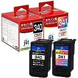 BC-340/BC-341 ブラック/カラー対応ジットリサイクルインクカートリッジ キヤノン Canon ※純正品とは使用方法が異なります JIT-C340B / JIT-C341C