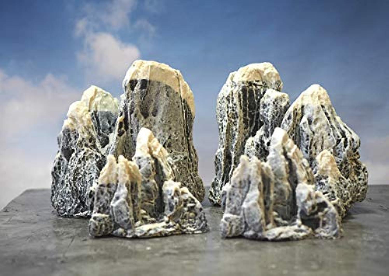 【Good in three directions】全高約19㎝ 中スケール 岩山 figma ガンプラ アーツ ジオラマ ジオラマ シート 模型用 岩山 2個セット 19センチ