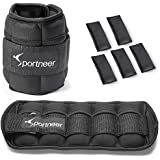 Sportneer Ankle Weights Adjustable 1-7 lbs Wrist Weight Straps for Fitness, Walking, Jogging, Workout | 0.5-3.5 lbs Each Pack, 2 Pack