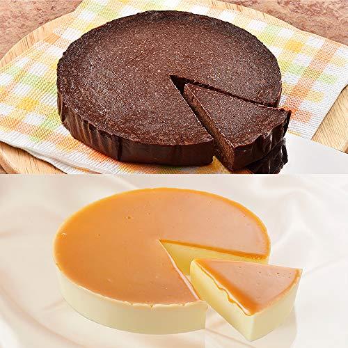 花畑牧場 選べる冷凍ケーキ2種セット (濃厚ガトーショコラ×チーズケーキ生キャラメル)