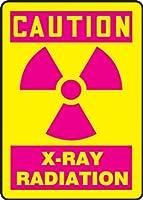 Accuform MRAD703XT Dura-Plastic Sign Legend Caution X-Ray Radiation 10 Length x 7 width x 0.060 Thickness Magenta on Yellow 10 Height 7 Wide 10 Length Dura-Plastic 10 x 7 [並行輸入品]