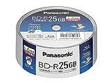 パナソニック 6倍速BRディスク片面1層25GB(追記)スピン...
