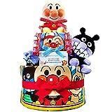 KanonBabys アンパンマンとバイキンマンのおむつケーキ/ダイパーケーキ 2段 (パンパースS20枚 男の子 出産祝い用)