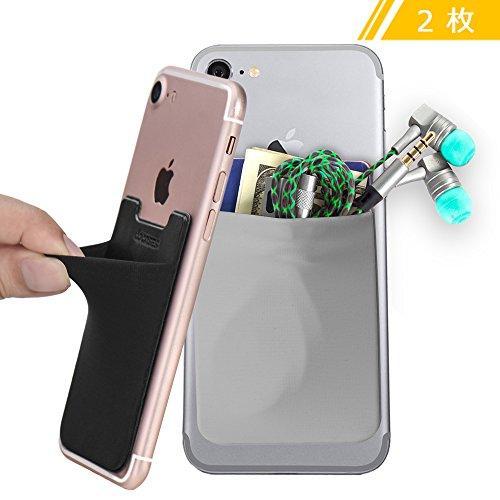 COCASES スマートフォン 背面貼り付け カードポケット 大容量 スマホ...