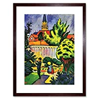 Painting Macke Children Garden Old Master Framed Wall Art Print