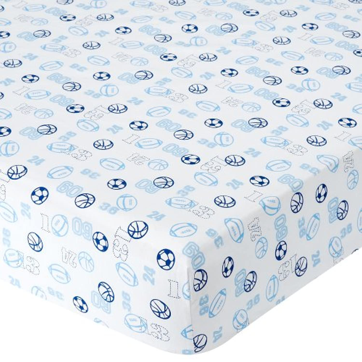 Babies R Us Percale Crib Sheet - Sports Numbers by Babies R Us
