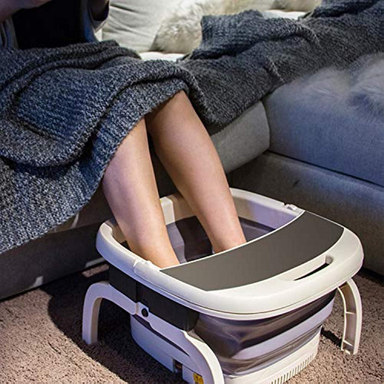 蒸留悔い改める女の子足湯 フットバス 折りたたみ バブル機能 保温フットバス バブルフットバス マッサージ 温水洗濯機 頭寒足熱対策 リラックス