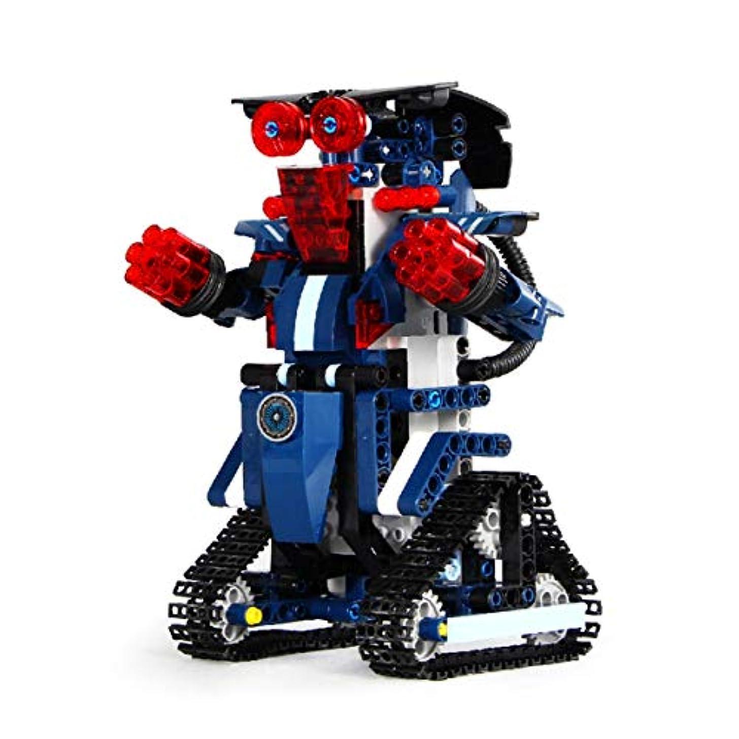 パターン石灰岩送信するRCアプリ制御ロボットDIY組み立ておもちゃ2.4Gスマートリモートコントロールビルディングブロック用男の子女の子キッズギフト多色