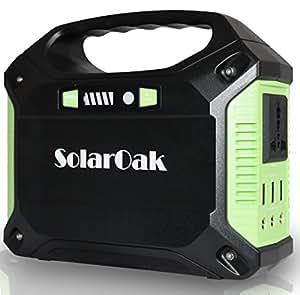 SolarOakポータブル電源 家庭用発電機 携帯式電源 3WAYシステム UPS機能 DC&AC&USB出力 携帯便利 停電/防災などに活躍 予備電源