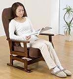 折りたたみ式 木肘回転高座椅子 SP-823R(C-01) BR