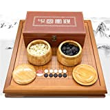 Sviper-toys Go Chess 中国戦略ボードゲーム GOセット 竹製ゴーボードとボウルとストーン付き 2プレーヤークラシック 52cm48cm*6.5cm Opbsite