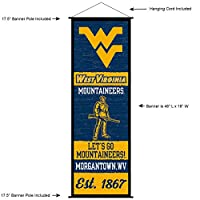 West Virginia Mountaineersバナー、スクロールSign