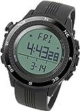[ラドウェザー] アウトドア腕時計 ドイツ製センサー 高度計 気圧計 温度計 方位計 天気予測 登山 スポーツ時計 (ブラック(通常液晶))