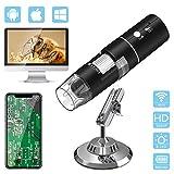 デジタル顕微鏡 AISITIN WiFi 顕微鏡 倍率1000 x USB 顕微鏡 内視鏡 拡大鏡 ポータブル led8個 1080p画素 ワイヤレス 電子顕微鏡 usb..