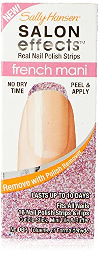 酔ってバンジョー不格好Sally Hansen Salon Effect Strips French Pink Macaroon (並行輸入品)