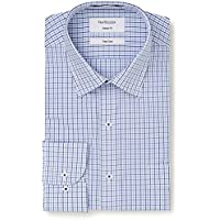 Van Heusen Men's Classic-Relaxed Fit Multi Window Check Business Shirt