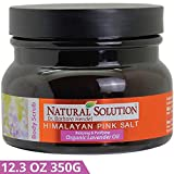 WBM Himalayan Salt Body Scrub with Organic Lavender Oil, Relaxing and Purifying Deep Cleansing – 12.3 oz