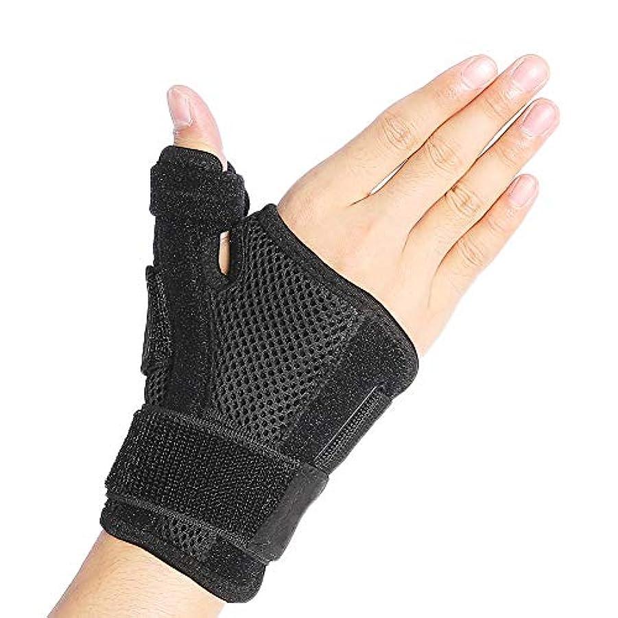 参加するタイルインクMISHOW 手首サポーター 親指 指用サポート 腱鞘炎 親指付け根の骨折 CM関節症 手首固定 スポーツ 医療用 左右兼用