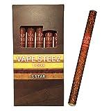 使い捨て 電子葉巻 吸引回数500回 5本セット 禁煙補助 電子タバコ VAPE STEEZ オリジナル商品 E CIGAR (バニラ)