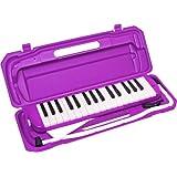 KC 鍵盤ハーモニカ  パープル 32鍵 P3001-32K/PP ドレミ表記シール・クロス付き