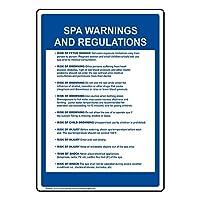 ComplianceSignsプラスチックジョージア水泳プール/サイン、10x 7インチwith英語テキスト、ホワイト