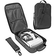 Esimen Fashion Travel Case for Oculus Quest 2 or Quest VR Gaming Headset Elite Strap and Controllers Accessories Carrying Bag(Black)